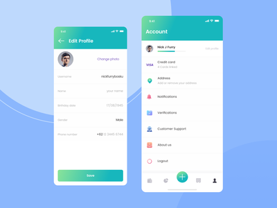 Account | Kaya : Wallet Apps payment wallet saving money apps concept ux design simple ui template builder template kaya wallet apps kayak iconspace designspace sebo