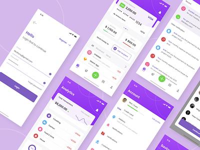 Duit - Finance App progress analytics wallet saving money finance app finance apps dashboard app purple interface concept ux design simple ui