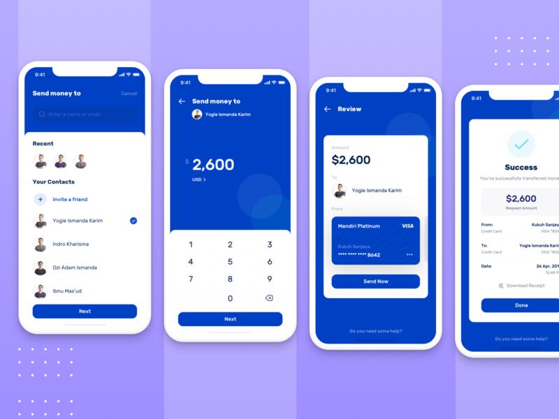 How to : Send Money | Banky Apps dashboard send money money transfer send bank finance envatomarket elements envato flow wallet saving money app concept interface ux design simple ui