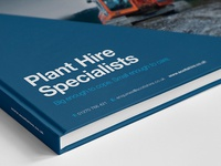 Plant Hire Brochure Design