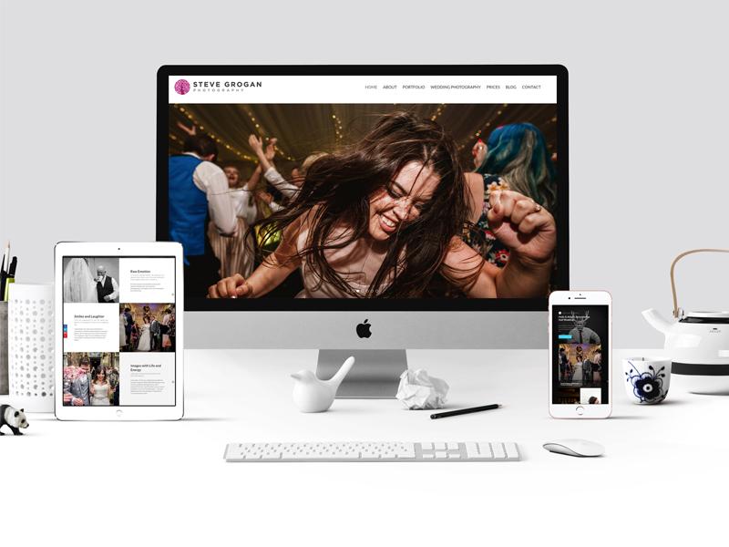 Manchester Photographer Website Design seo marketing typography minimal clean responsive web photographer