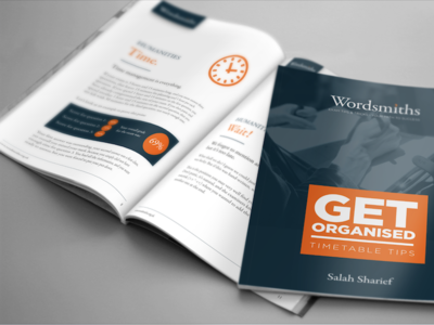 E-Book Design clean white blue orange digital download brochure page layout design ebook