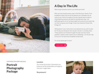 Photography Website Design white photo seo marketing typography minimal clean responsive web photographer