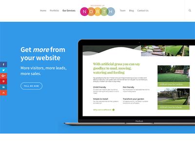 Website Refresh marketing digital blue clean web strong colour