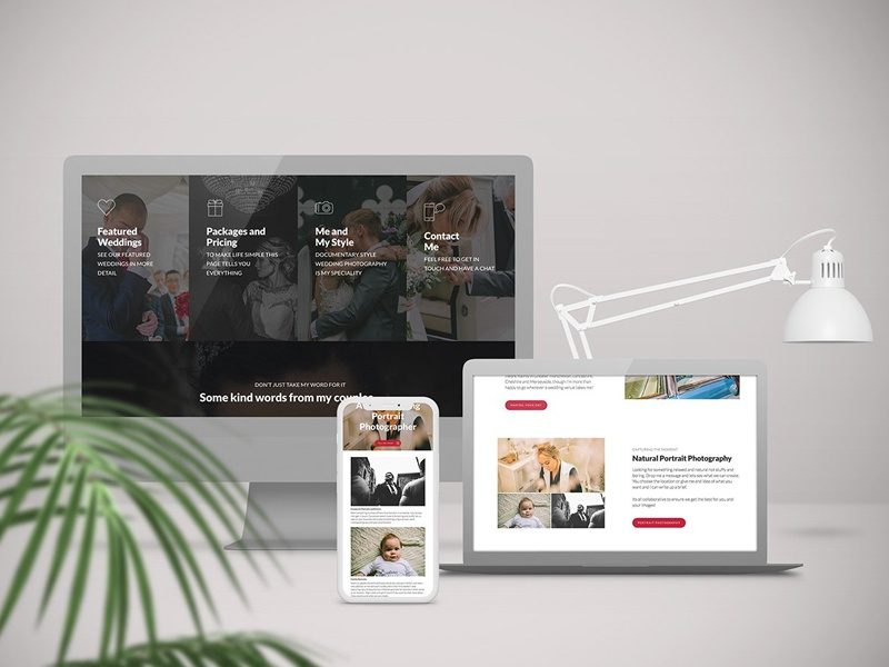 Wedding Photographer Web Design web typography portfolio marketing digital minimal wedding