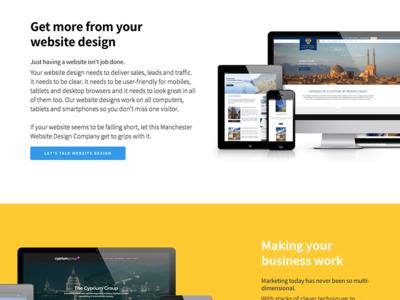 // Website Update // portfolio minimal clean font yellow update web