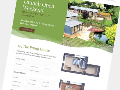 Property Website Design ux ui photography cgi typography real estate clean green