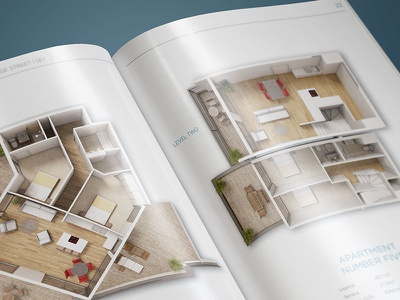 Property Brochure Design | A4 print typography apartment house minimal white cgi floorpan property real estate