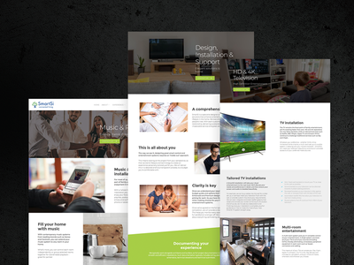 SmartHome Web Design green responsive tech typography layout page online digital web