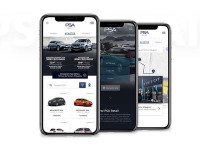 PSA Retail - Car dealers application concept car product design conception design ux ui