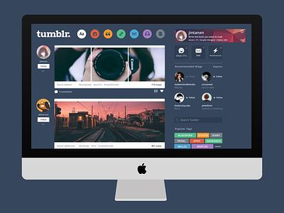 Tumblr Redesigned ui tumblr theme tumblr