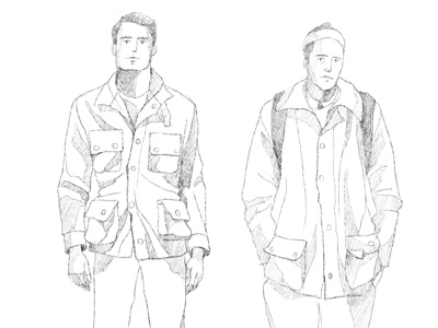 sketch 2d sketchbook people study portrait outline guy boy barbour men sketch character design texture vintage style retro illustration cartoon vector