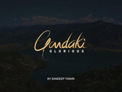 GLORIOUS GANDAKI by Sandeep Tiwari glorious gandaki vector ui sandy logo typography illustration design espyctiwa sandeeptiwaristudio sandeeptiwari