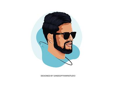 Vector Portrait by Sandeep Tiwari illustration portrait illustration portrait art vector design espyctiwa sandeeptiwaristudio sandeeptiwari