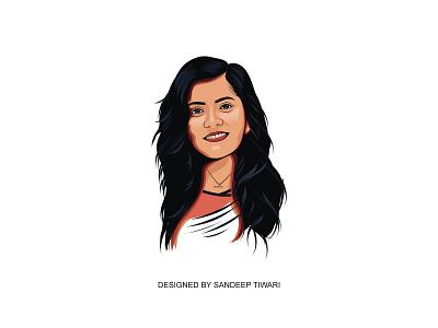 Vector Portrait by Sandeep Tiwari logo illustration branding typography pokhara nepal devanagari design espyctiwa sandeeptiwaristudio sandeeptiwari