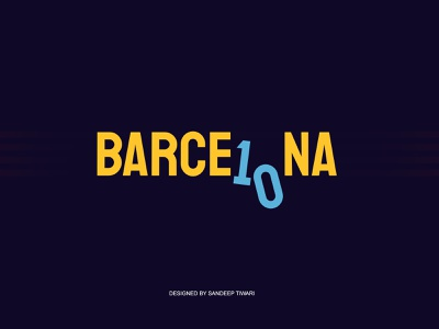 BARCE10NA football 10 messi barcelona illustration illustrator typography design espyctiwa sandeeptiwaristudio sandeeptiwari