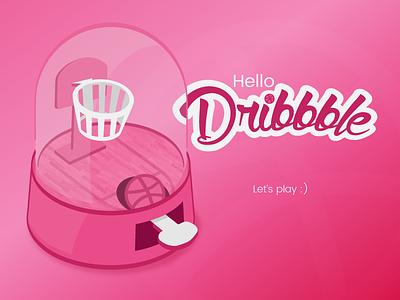 Dribbble Debut hello game illustration first shot dribbble debut