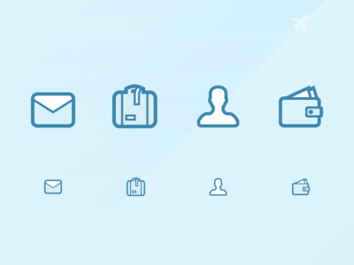 Flight Booking Related Icons