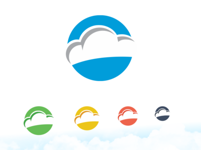 Cloud Logo saas cloud icon branding mark logo