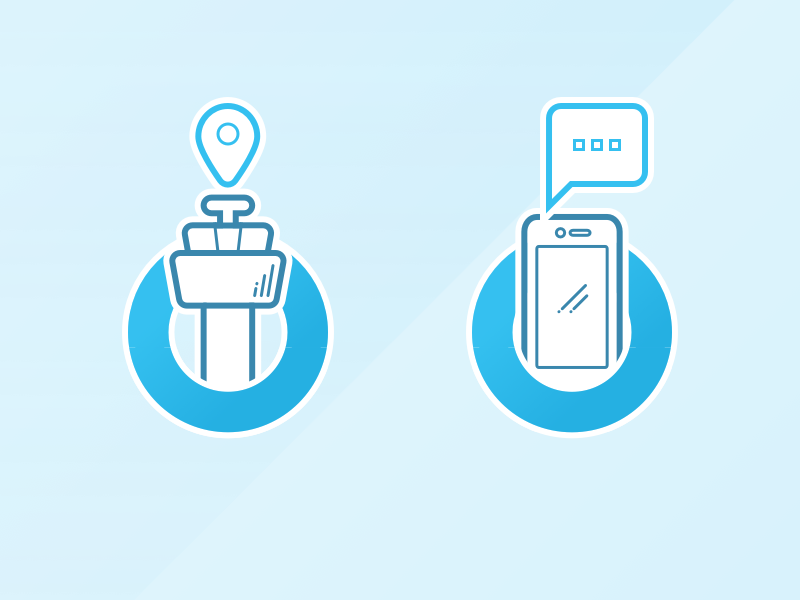 Onboarding Icons ux mobile ios design icon notification location onboarding app booking flights
