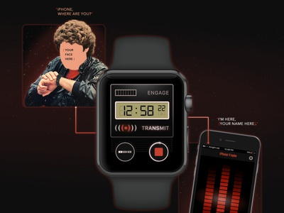 iPhone Finder smartwatch 80s voice interaction design app mobile iwatch