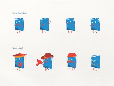 Vocab App Mascot ux character design game mascot branding vector illustration mobile app design