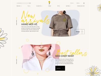 Sunflower e-commerce homepage
