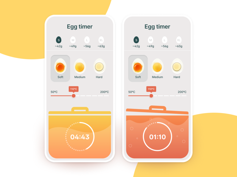 Egg Timer countdowntimer countdown food food app app design app webdesign website concept ui  ux design web design ui uidesign