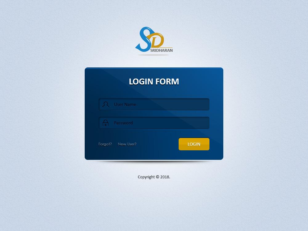 SD Login Page web login logo design ui corporate branding