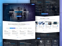 Online Marketing Website V2.0 - Home Screen