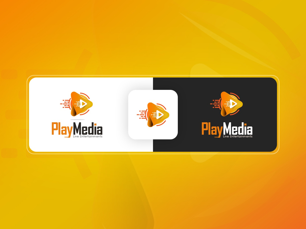 Play Media Logo branding vector play logo play icon play movie play button play music play files films songs movies music media media player play media logo design play media