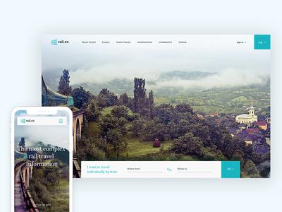 Rail.cc homepage webdesign