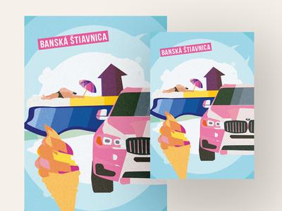 Banska Stiavnica illustration