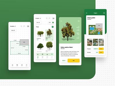 My Gaarden 3D garden app design ux ui design