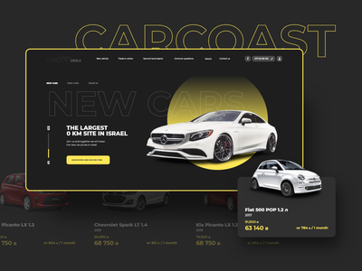 CarCoast Deals concept auto webdesign web design ux ui