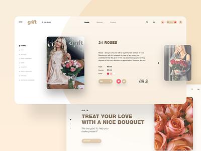 Grift service gifts webdesign web ux ui design