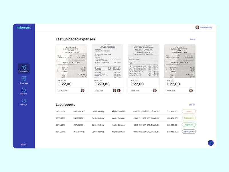 Wep Scan Application for expenses webdesign website expense ui ux uiuxdesign web application dashboard design dashboard app dashboad