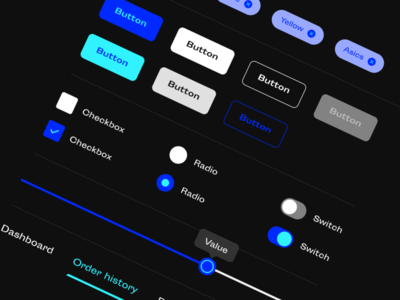 Dark Mode UI Elements interface userinterface buttons ui ux dark ui darkmode
