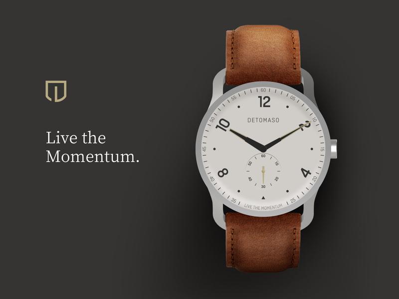 DETOMASO Watches Branding redesign logo illustration interfacedesign interface ui design brand branding