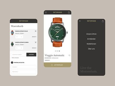 DETOMASO E-Commerce responsive website webdesigns responsive design watches mobile ui mobile online shop online-shop ecommerce website userinterface webdesign design ui interface ux
