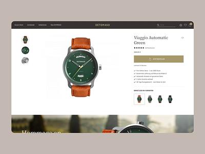 DETOMASO E-Commerce Desktop shop user interface interfacedesign website userinterface webdesign design ui interface ux e-commerce online-shop