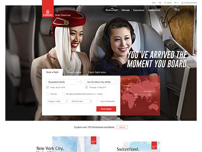 Emirates Global Website global flying emirates booking user experience user interface ux ui webdesign