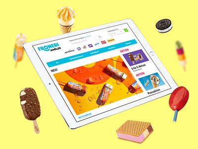 Froneri Schöller B2B Online-Shop website webdesign user interface ui icecream shop interface user interface ui  ux uxui ux ecommerce design ecommerce shop ecommerce