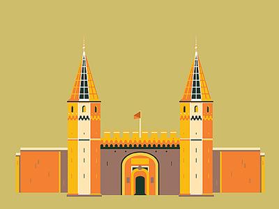 Istanbul Memories / Topkapi Palace city istanbul turkey building topkapi palace illustration icon