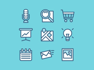 100 Free Web and App UI icons download set flat icon free