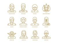 Star Wars flat icon project / Characters