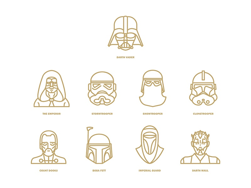 Star Wars Flat Icon Project Characters Part2 By Selin
