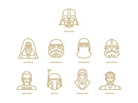 Star Wars flat icon project / Characters part2