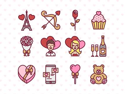 Valentine's Day Free Icon Set love set icon free valentinesday