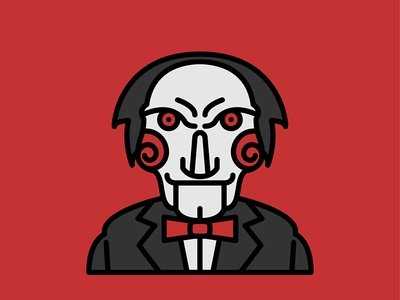 Horror Movie Characters - Billy The Puppet icon flat saw puppet the billy character movie horror